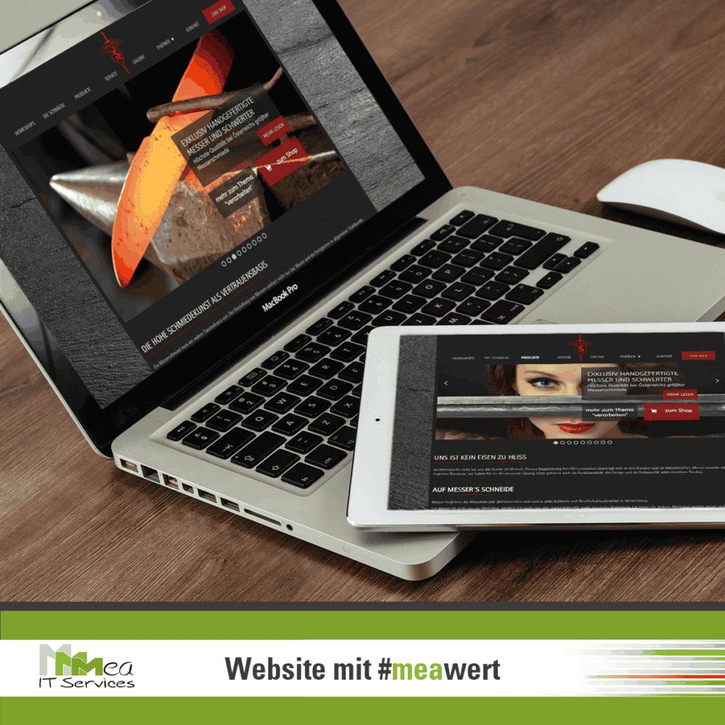 Website mit meawert Steirereisen