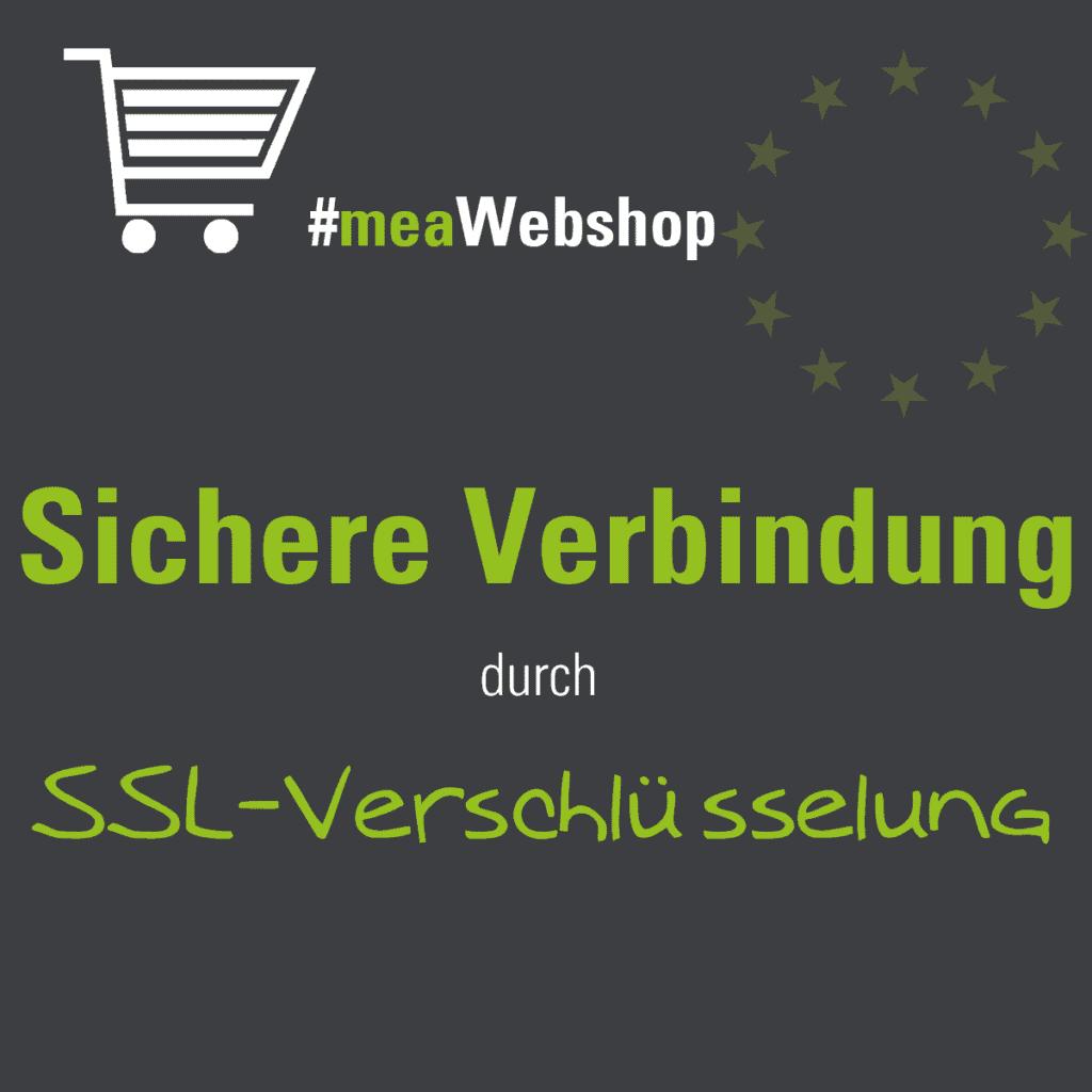 DSGVO-konformer Onlineshop mit sicherer Verbindung durch SSL-Verschlüsselung